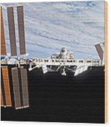 International Space Station Wood Print