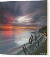Long Exposure Sunset At A North San Wood Print