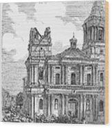 Manila: Earthquake, 1863 Wood Print