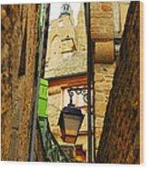 Mont Saint Michel Wood Print by Elena Elisseeva