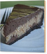 Peanut Butter Chocolate Cheesecake Wood Print