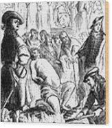 Persecution Of Waldenses Wood Print