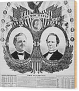 Presidential Campaign, 1876 Wood Print