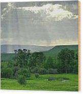 Rain Sun Rays Wood Print