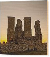 Reculver Towers Wood Print