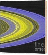 Saturns Rings Wood Print