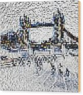 Southbank London Art Wood Print