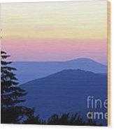 Summer Solstice Sunrise Wood Print
