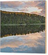 Sunrise Above A Lake On A Wind Still Morning Wood Print