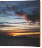 Sunset Over Poole Bay Wood Print
