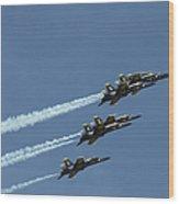The Blue Angels Perform Aerial Wood Print