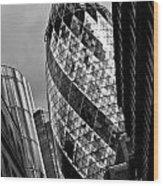 The Gherkin London Wood Print