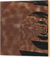 Twirling Shine Wood Print