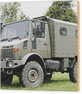Unimog Truck Of The Belgian Army Wood Print