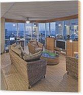 Usa Hi Honolulu Upscale Living Room Wood Print
