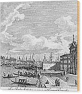 Venice: Grand Canal, 1742 Wood Print