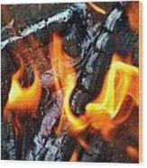 Wood Fire Wood Print