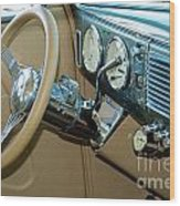 40 Ford Coupe Dash Wood Print