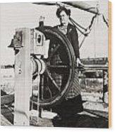 Silent Film Still: Woman Wood Print