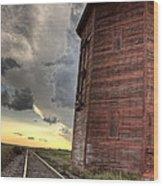 Storm Clouds Saskatchewan Wood Print