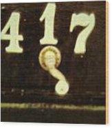 417 With A Twist Wood Print