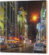 42nd Street Nyc 3.0 Wood Print