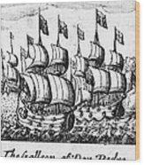 Spanish Armada, 1588 Wood Print