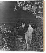 Silent Film Still: Couples Wood Print