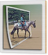 4h Horse Competition Wood Print