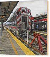 4th And King St. Caltrains Station - San Francisco Wood Print