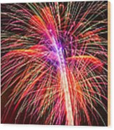 4th Of July - Independence Day Fireworks Wood Print