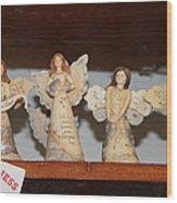 5 Angels Wood Print