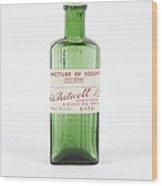 Antique Pharmacy Bottle Wood Print