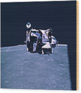 Apollo Mission 16 Wood Print