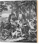 Atalanta And Meleager Wood Print