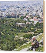 Athens Greece Wood Print