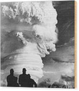 Atomic Bomb Explosion Wood Print