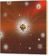 Atomic Structure, Artwork Wood Print