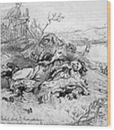 Battle Of Fredericksburg Wood Print