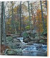 Big Hunting Creek Upstream From Cunningham Falls Wood Print