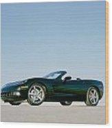 Black 2005 Corvette Wood Print
