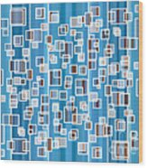 Blue Abstract Wood Print by Frank Tschakert