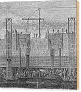 Brooklyn Bridge, 1870 Wood Print