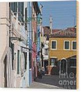Burano Island. Venice Wood Print