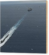 Carrier Strike Group Formation Of Ships Wood Print
