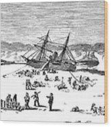 Charles Francis Hall Wood Print