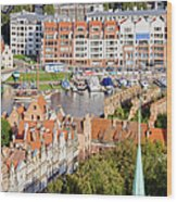 City Of Gdansk In Poland Wood Print