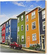 Colorful Houses In St. John's Newfoundland Wood Print
