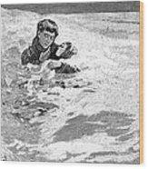 Dakota Blizzard, 1888 Wood Print