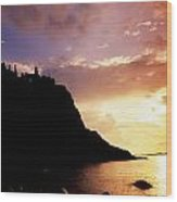 Dunluce Castle, Co Antrim, Ireland Wood Print